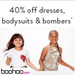 boohoo Promo Code - 40% OFF DRESSES, BODYSUITS&BOMBERS!
