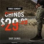 Hallensteins Promo Code - Chinos at $29.99