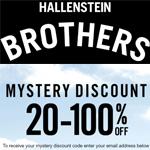 Hallensteins Mystery Promo Code - save 20-100%
