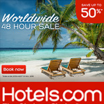 Hotels.com Promo Code  - Save up to 50%