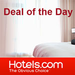 Hotels.com discount code  - Deal Of The Day