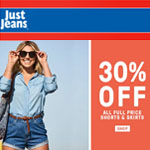 Just Jeans Promo Voucher - 30% OFF ALL FULL PRICE!