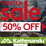 Kathmandu Promo Coupon - Winter Sale up to 50% OFF