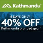 Kathmandu Promo Code - 5 Days Only 40% OFF!
