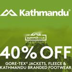 Kathmandu Promo Coupon - 40% OFF