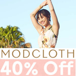 ModCloth Promo Code - up to 40% OFF