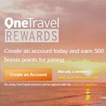 OneTravel Promo Code - Earn 500 bonus points!