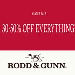 Rodd&Gunn Coupon Code - 30-50% Off EVERYTHING!
