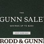 Rodd&Gunn Discount Code - GUNN SALE - save up to $200