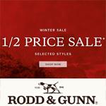 Rodd&Gunn Discount Code - 1/2 Price SALE