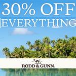 Rodd&Gunn Discount Code - 30% off site wide