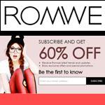 ROMWE Promo Code - SAVE 60% OFF!