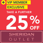 Sheridan Factory Outlet Discount Voucher - Take a further 25% OFF!
