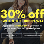 SurfStitch Discount Code - Extra 30% off SWELL&THE HIDDEN WAY