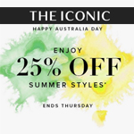 The Iconic Voucher Code– 25% Off Summer Styles