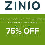 ZINIO - UP TO 75% OFF!